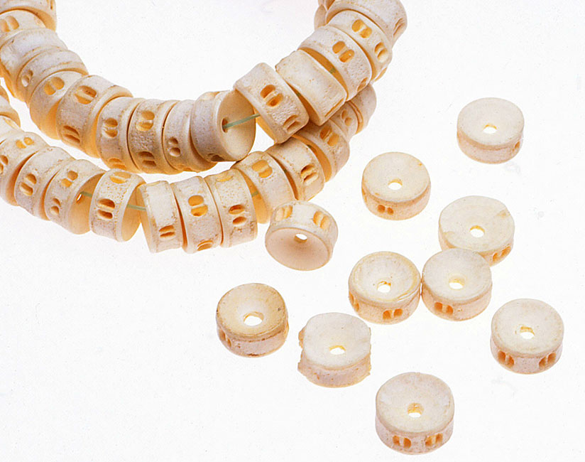African fish vertebrae beads. RKL