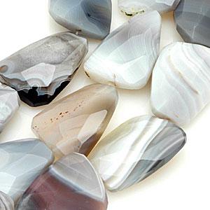 Botswana agate beads. CW