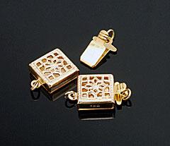 Filigree style box clasps. CW