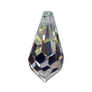 Drop style briolette in cut glass crystal. CW