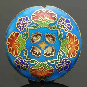 Contemporary Chinese cloisonné bead. CW