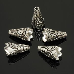 Sterling silver cones. CW