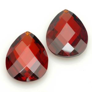 Cubic Zirconia briolette shaped pendants. CW