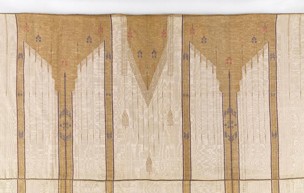 Dressed with Distinction:  MAN'S CLOAK (abaya) of silk, cotton, metallic thread, weft-faced weave, slit tapestry technique, early twentieth century.