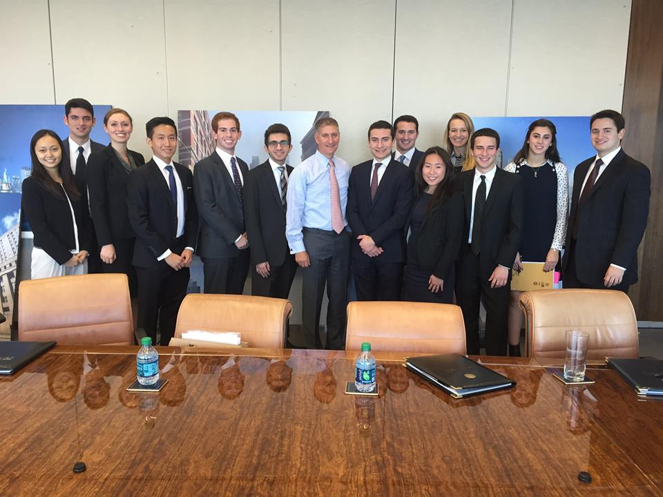Members with Marty Burger of Silverstein Properties at the WTC