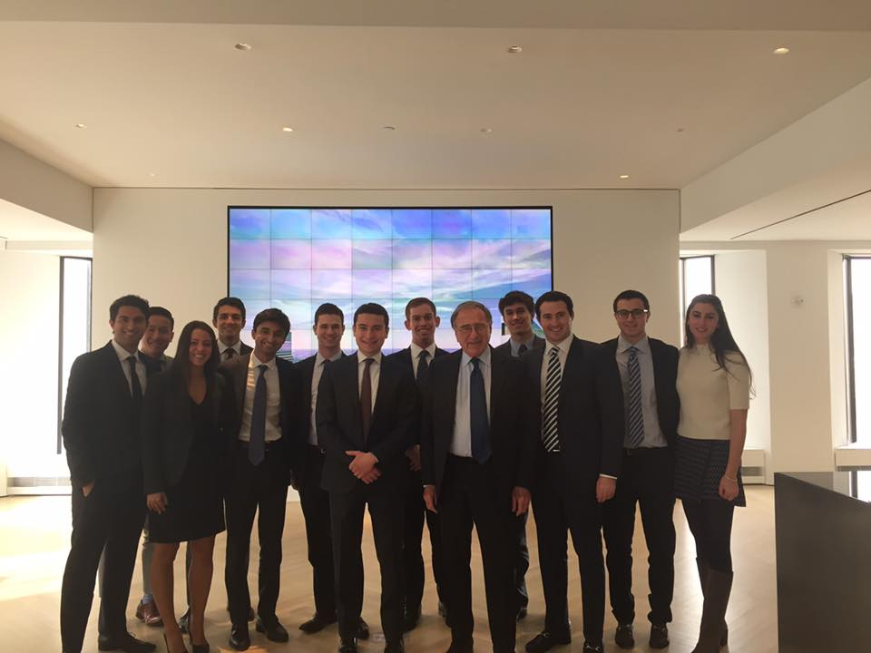 Members with Harry Macklowe at 432 Park Avenue