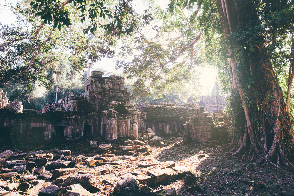 Preah Khan at sunset