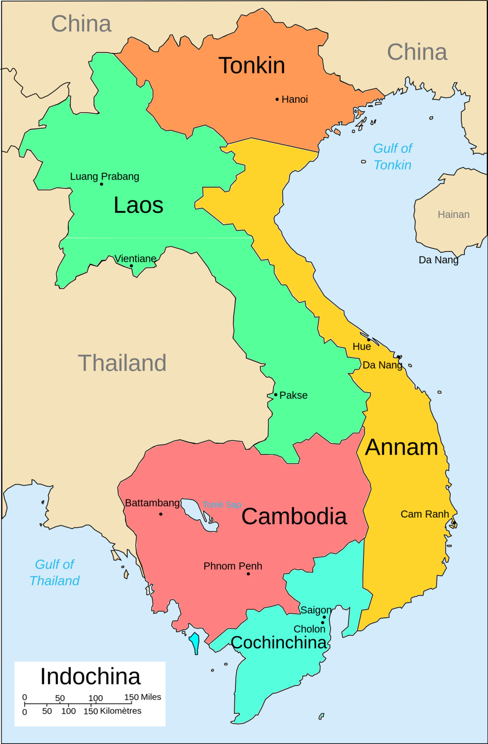 Colonial Indochina    (click to enlarge)
