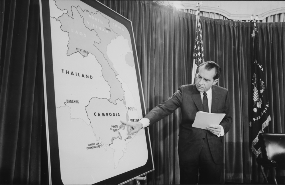 Nixon's speech on an American operation in Cambodia