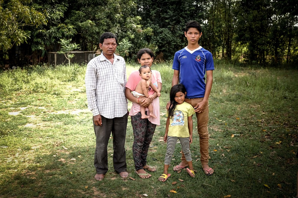 Sokhom (left) was one of the first twenty children that Sedtha adopted during his escape from the country in the wake of the Khmer Rouge.  Today, Sokhom has been able to raise a family.  His eldest son, Toty (pictured), is now enrolled at university.