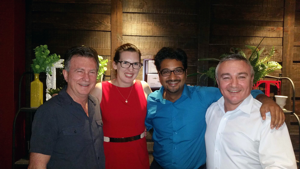 Kel Gleeson, Catherine Thoroughgood, Fikri Thalib and Stephen Mifsud