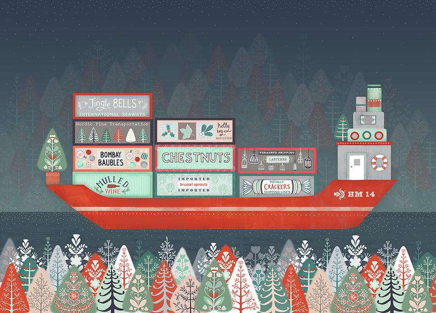 Christmas barge