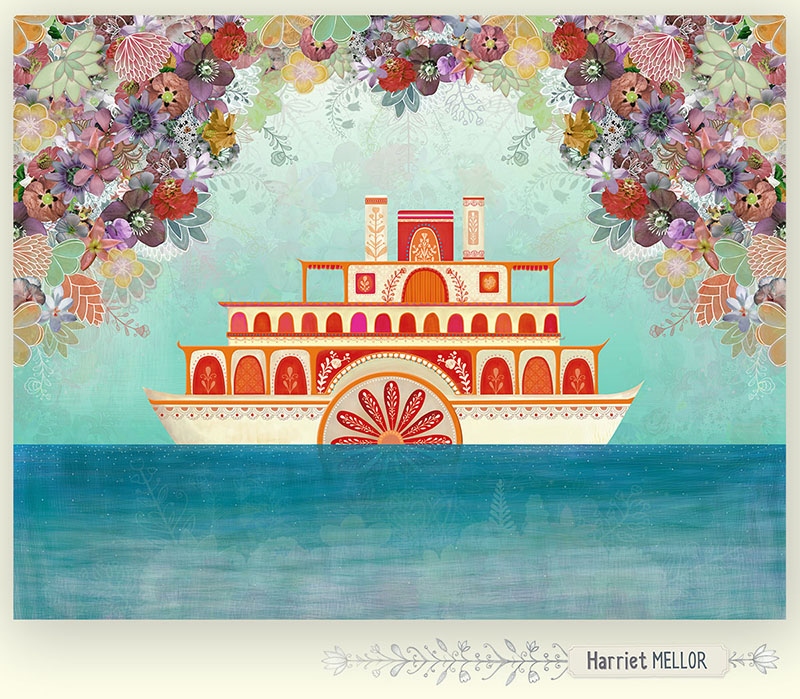 Harriet Mellor VINTAGE PADDLE STEAMER