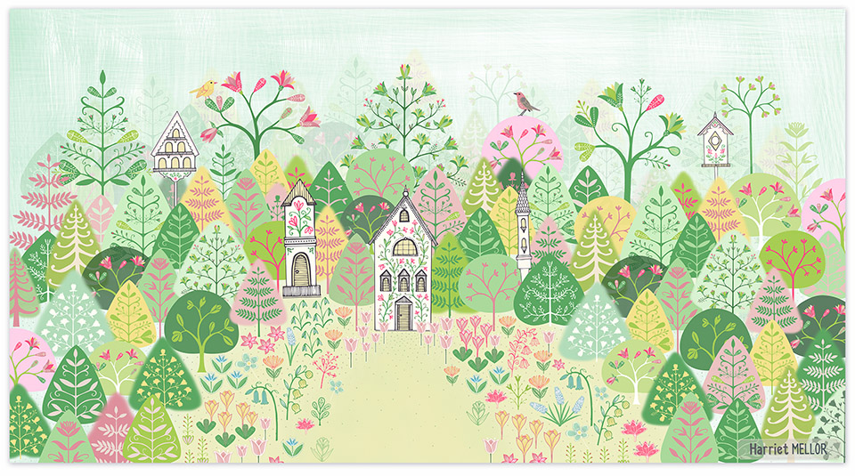 Spring Forest - new canvas wall art available through Oopsy Daisy ...