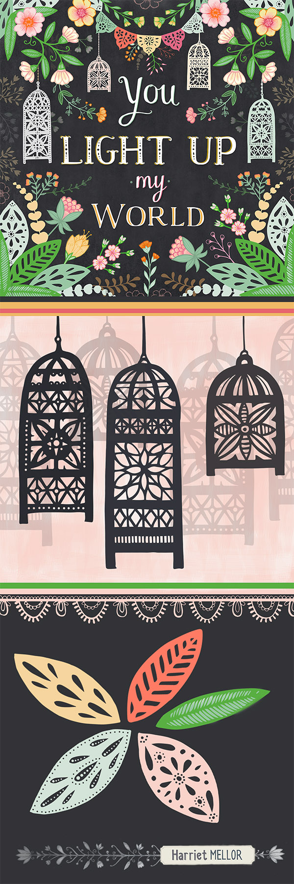 Harriet Mellor Lanterns tall pin