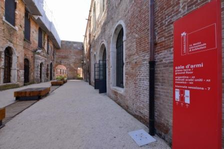 Entrance to the UAE's permanent pavilion at la Biennale di Venezia, located at Arsenale - Sale d'Armi in Venice, Italy. Photo courtesy of National Pavilion UAE