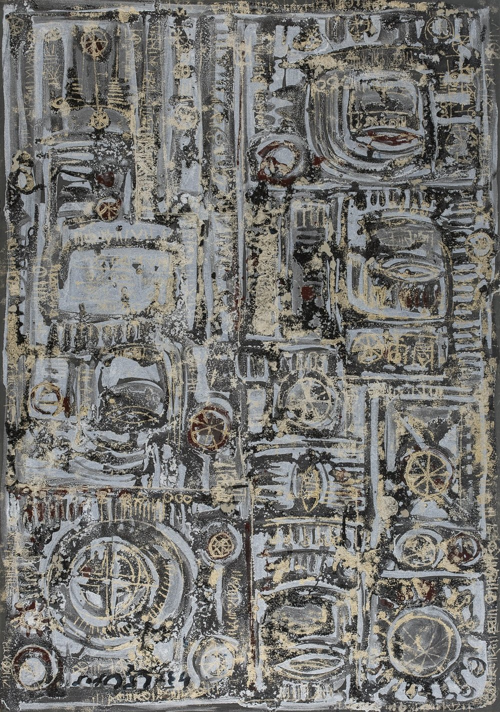 Massoud Arabshahi(circa 1960)_Untitled_metallic paint on card_ 100x70cm.jpg