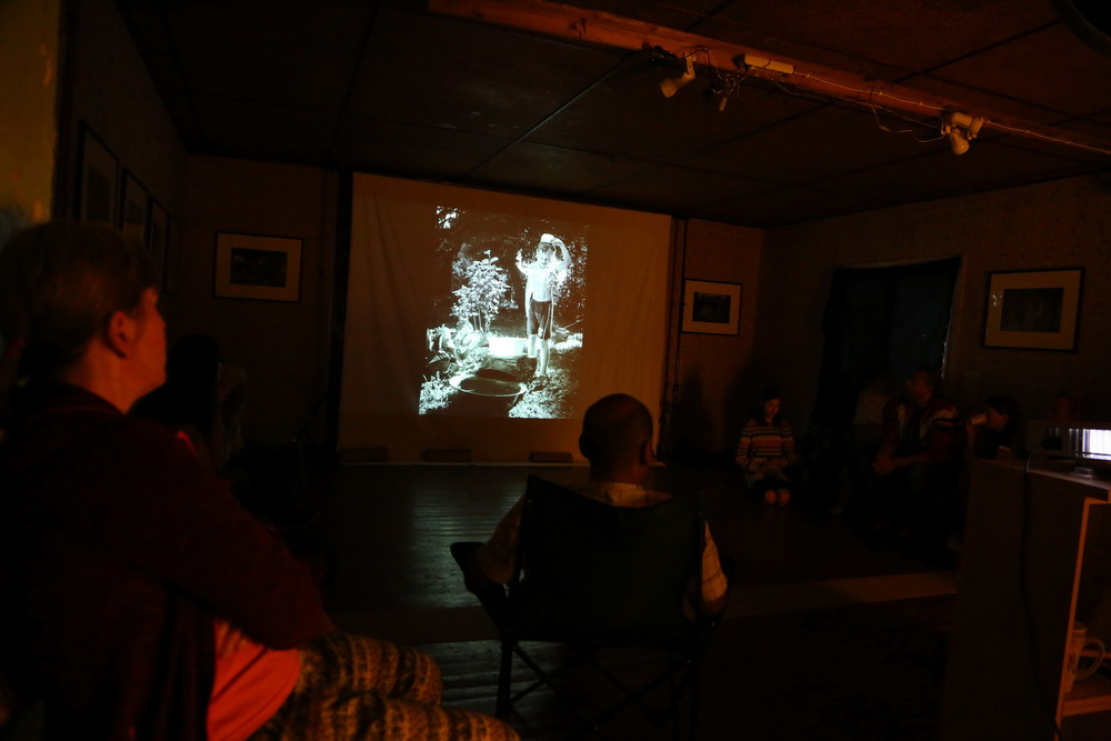 My artist talk in ambulARToorium. Photo: Jaak Kikas.