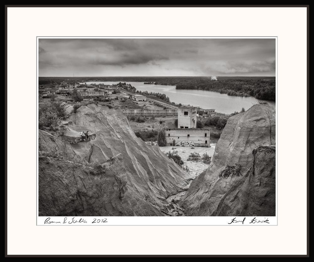 Example of matted and framed print.