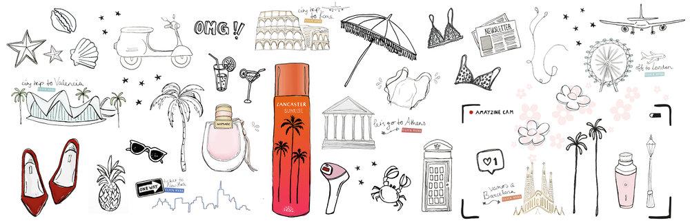 Illustraties voor Amayzine door Nikita Holst