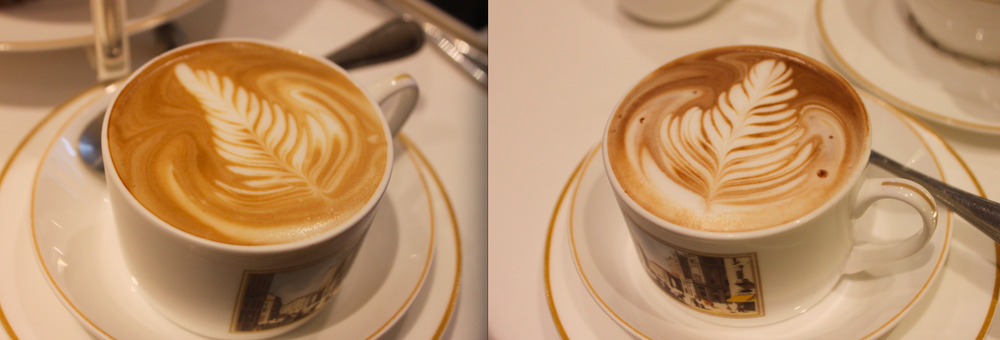 Right: Caffe Latte; Left: Caffe Moka