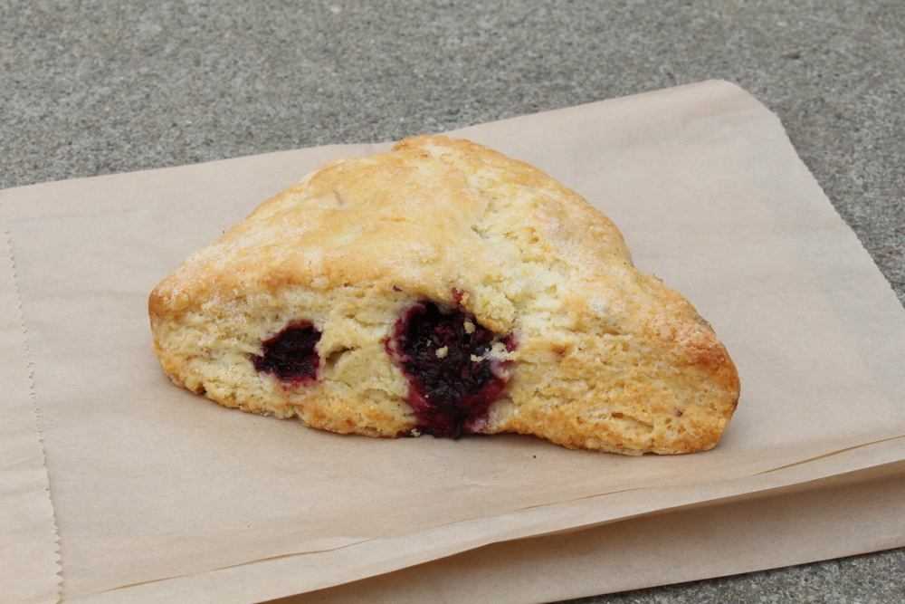 Warming Hut's Blueberry Scone