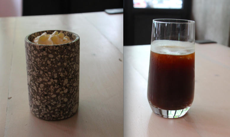 Left: Cafe Rose; Right: Americano