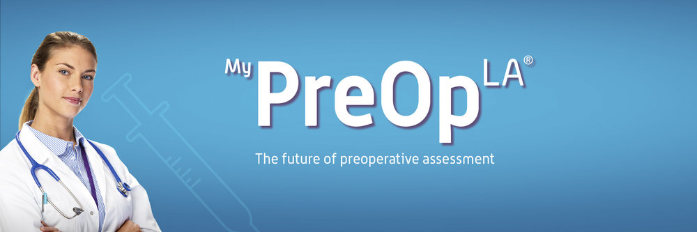MyPreOp LA banner, assessment for procedures using local anaesthetic