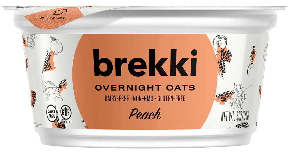 Brekki Overnight Oats Peach