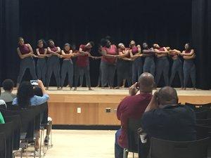 MS 358 Dance majors perform as 8th graders.