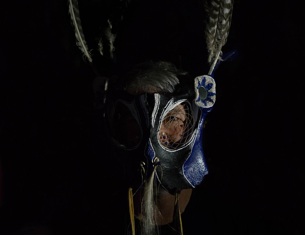 Elk bone mask
