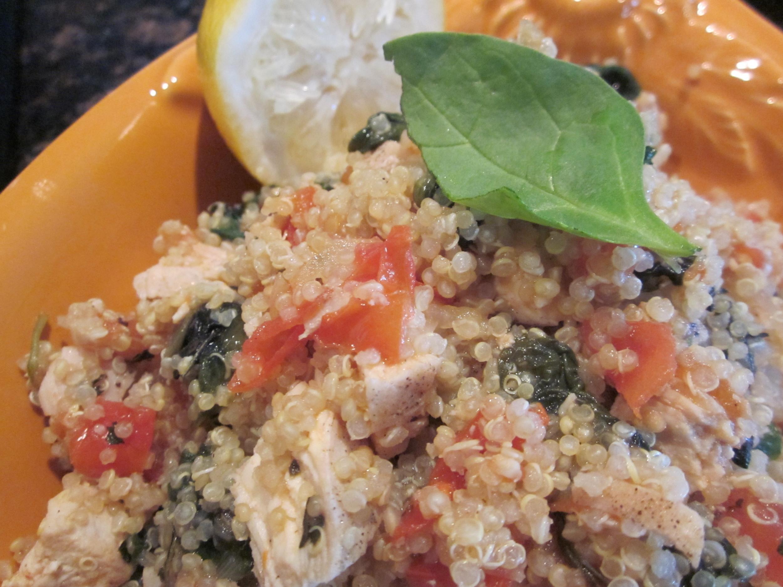 Lemon-Basil Garlic Chicken Quinoa (a mouthful!) — nutrishus