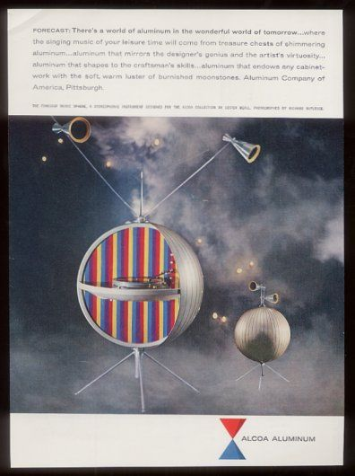 Music Sphere designed for Alcoa in 1956 by Graphic designer Lester Beall.