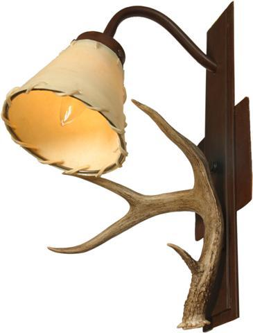 coues_deer_single_light_wall_sconce_with_flat_iron.jpg