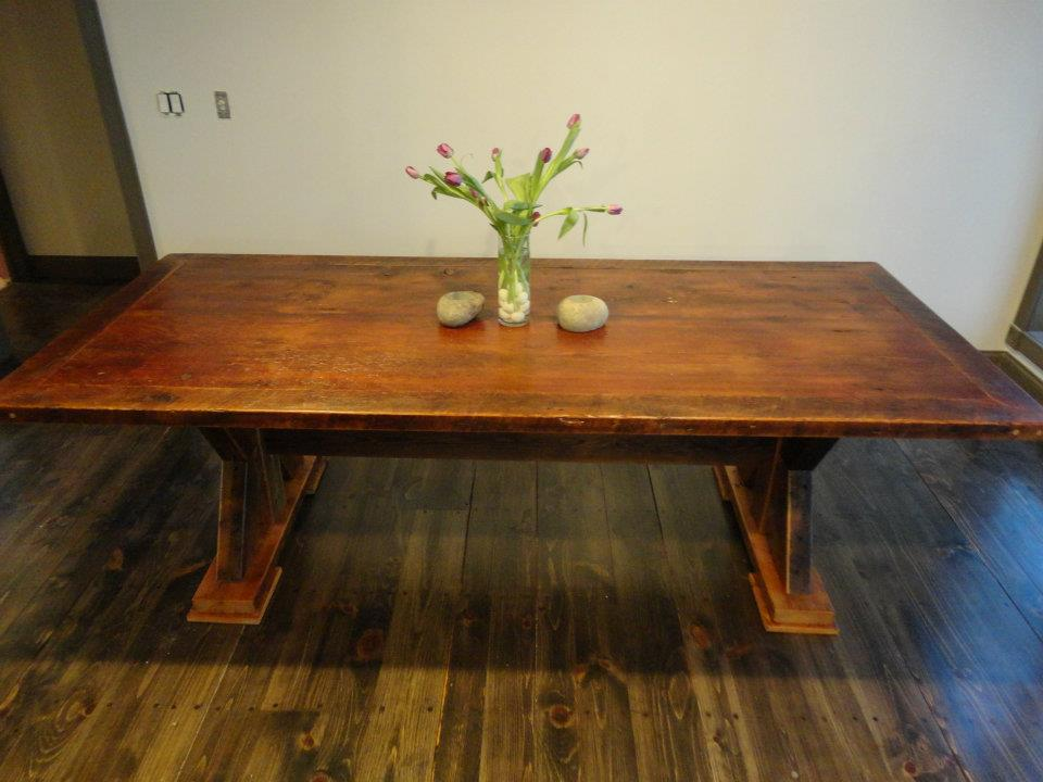 Trestle Barnwood Table