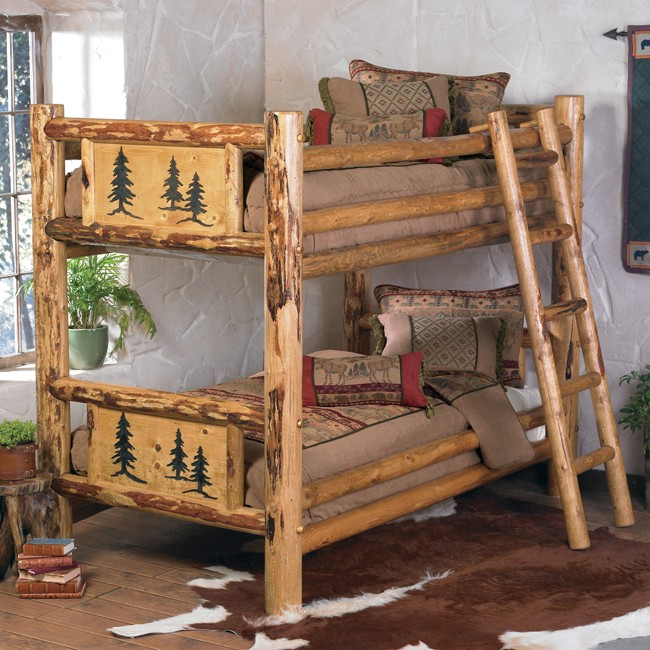 Rocky Mountain Log Bunk Bed