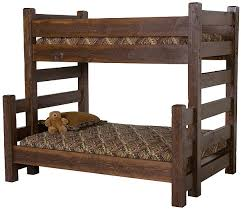 Norway Pine Barnwood Twin over Full Bunkbed