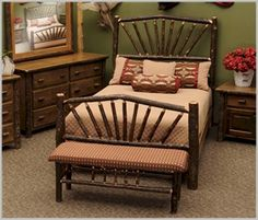 Hickory Sunburst Bed