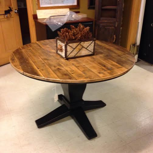 Round Barnwood Table