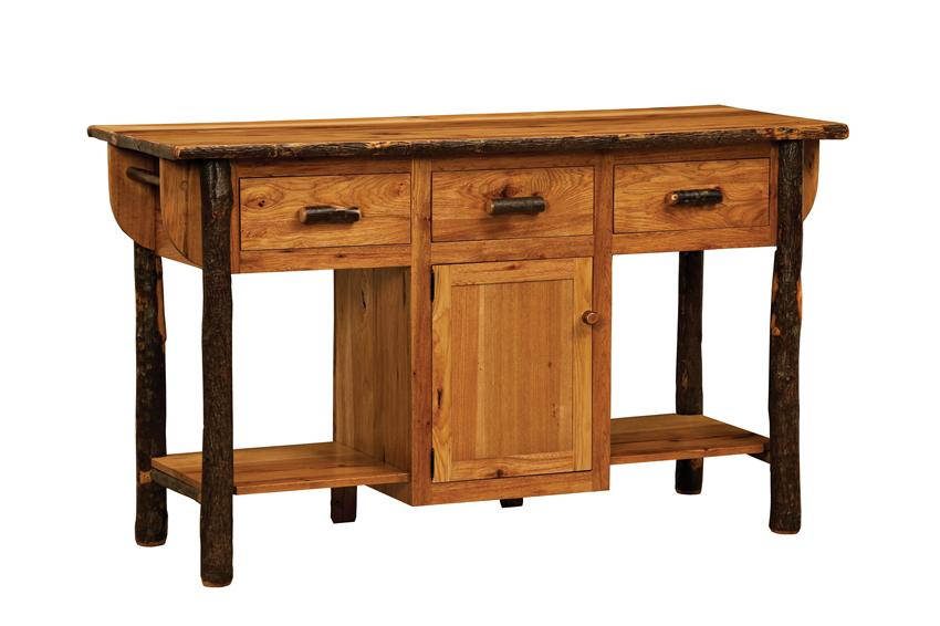 Amish Dining Room Furniture Blue Mountain Hickory Kitchen Island.jpg