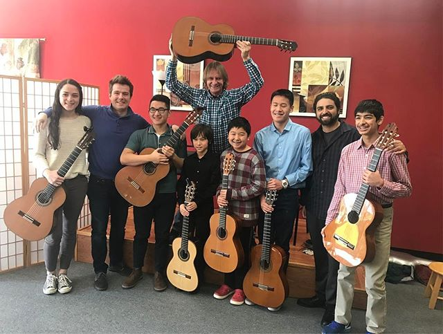 We were so grateful to be able to have the magnificent guitarist David Russell come in and work with some of our students. It was a wonderful, insightful class! #guitar #classicalguitar