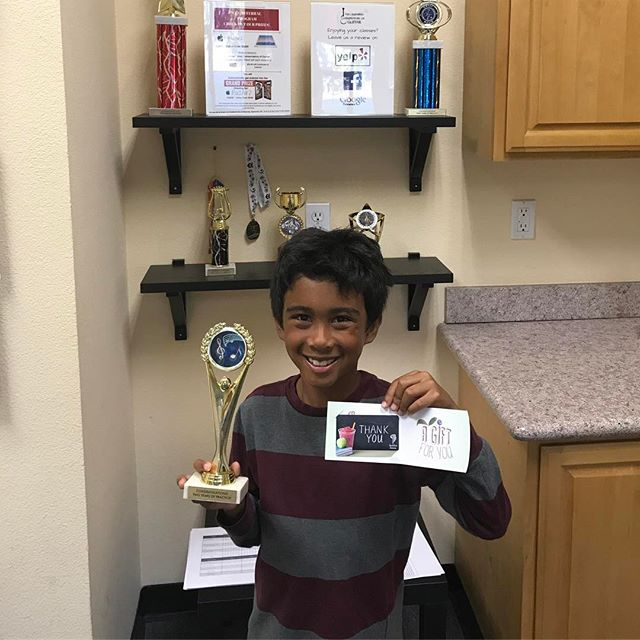 Congrats to CCG student Micah for completing his 2 year practice challenge. He has practiced guitar everyday for two years straight - on his way to the 5 year club! He also won a gift certificate to Jamba Juice for earning 170 practice points in 4 weeks. #hardwork #classicalguitar #musiceducation #ccg #guitar