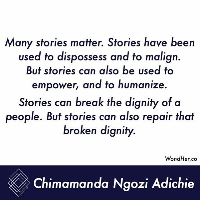Many stories matter #qotd #dignity #story #empower