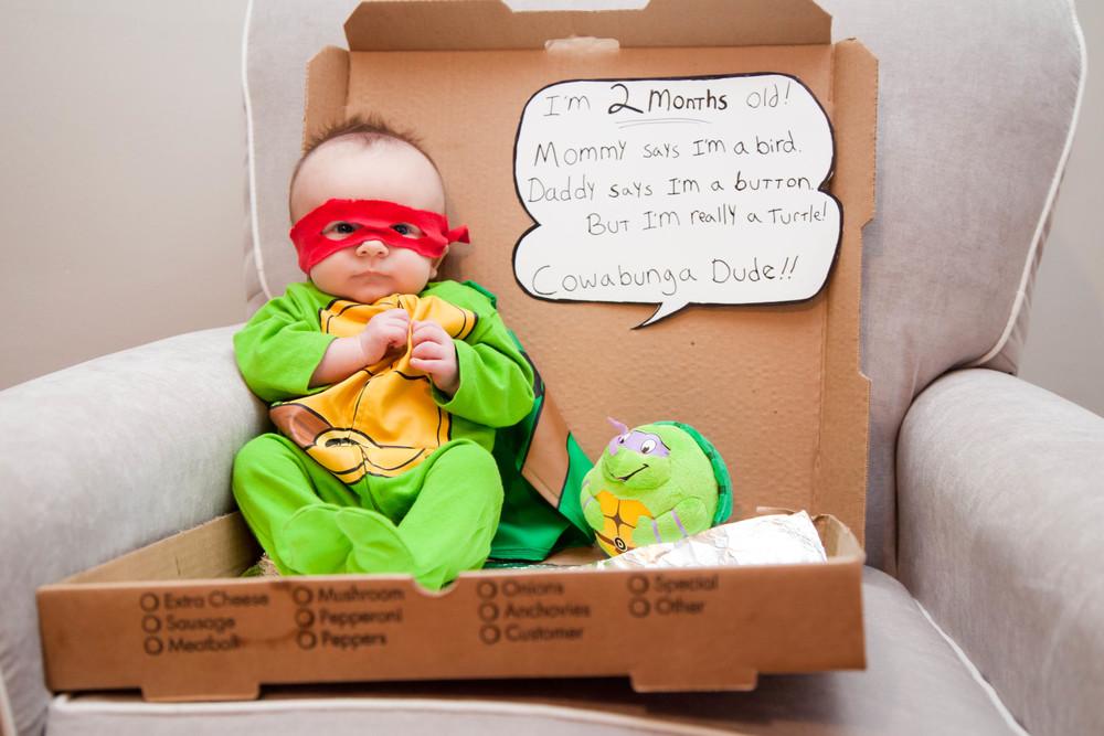 Rosanio Photography | {Ninja Turtle} Superhero Monthly Photos | Massachusetts Family Photographer