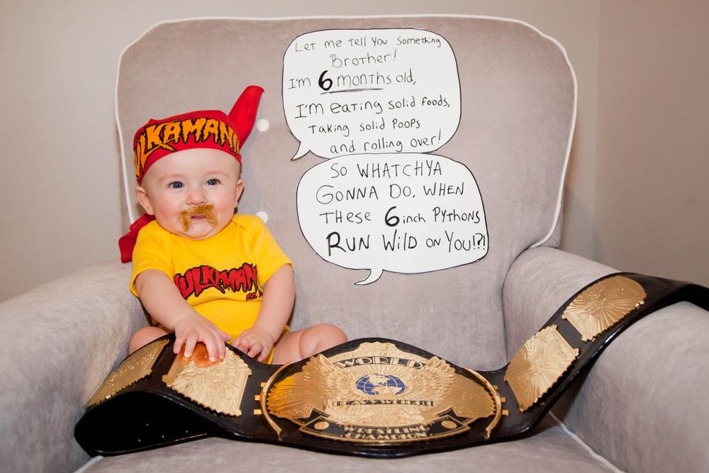 Rosanio Photography | {Hulk Hogan} Superhero Monthly Photos | Massachusetts Family Photographer