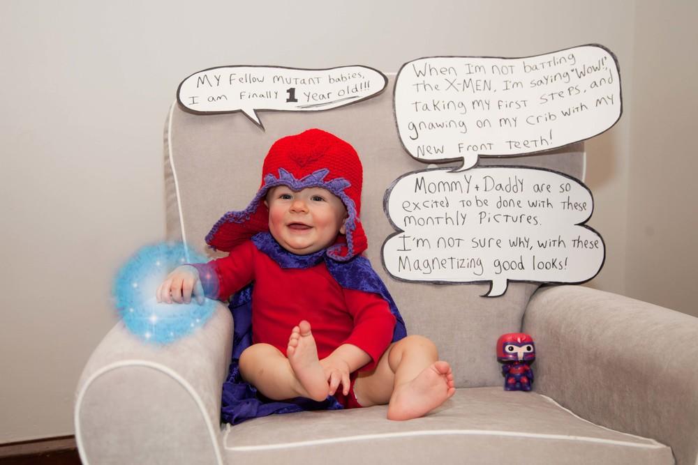 Rosanio Photography | {Magneto} Superhero Monthly Photos | Massachusetts Family Photographer