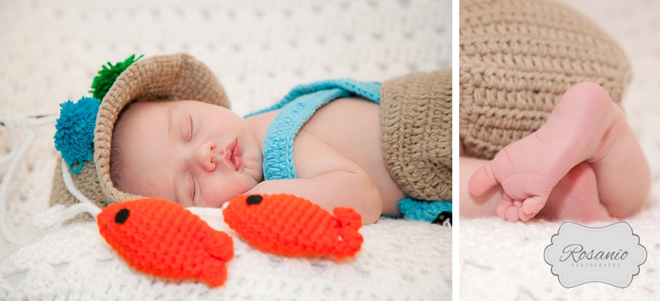 Rosanio Photography | Newborn Fisherman's Outfit | New Hampshire Family Photographer