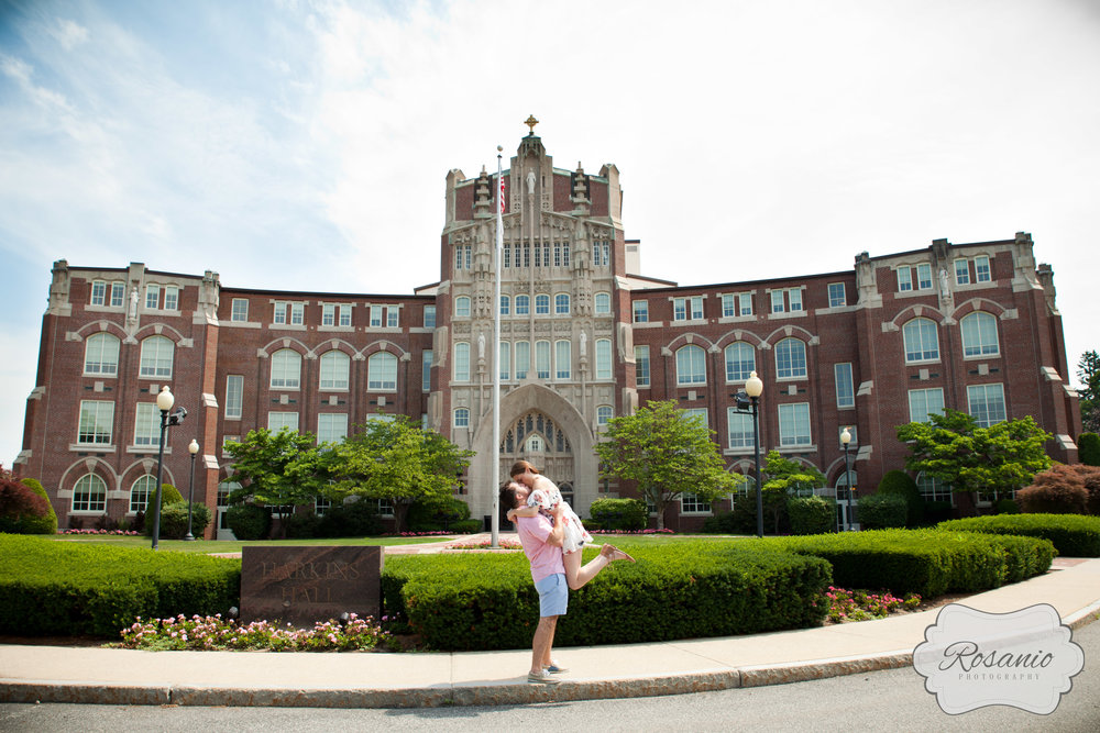 Rosanio Photography | Providence College Engagement Session | New England Engagement and Wedding Photographer