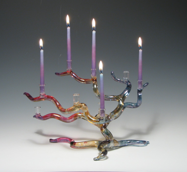 Windswept Tree of Life Menorah