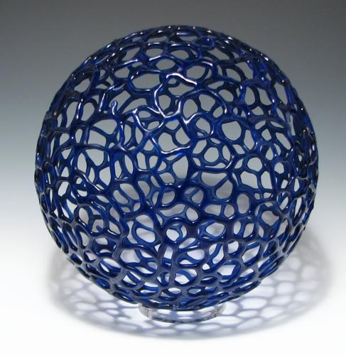 "Cobalt Sphere, 11"" diameter"